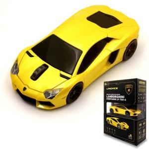LANDMICE Lamborghini LP700 2.4G無線マウス 1750dpi イエロー LB-LP700-4-YL【60サイズ】|emon-shop