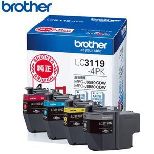 ブラザー 純正 LC3119-4PK インクカートリッジ 大容量タイプ お徳用4色パック プリンターインク【60サイズ】|emon-shop