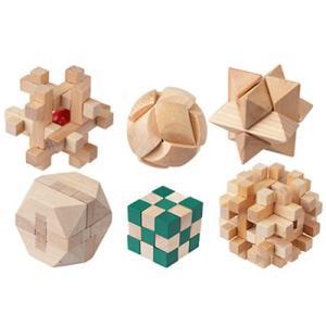 木製パズル6入りセット やわらか頭君 MO-P01 キヨラカ【80サイズ】|emon-shop