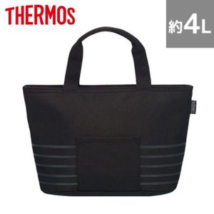 サーモス 保冷ランチバッグ 約4L RDU-0043-BK ブラック【80サイズ】 emon-shop