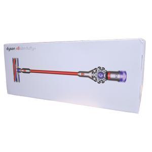 ダイソン 掃除機 Dyson V8 Slim Fluffy+ SV10KSLMCOM ニッケル/アイアン/レッド サイクロン式 コードレスクリーナー 【160サイズ】|emon-shop