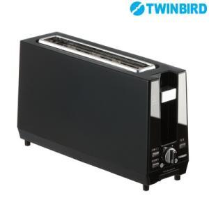 ツインバード ポップアップトースター TS-D424B ブラック【100サイズ】|emon-shop