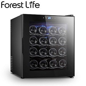 フィフティ ワインセラー 庫内容量48L 16本収納 家庭用 右開き Forest Life WCF-16【160サイズ】|emon-shop