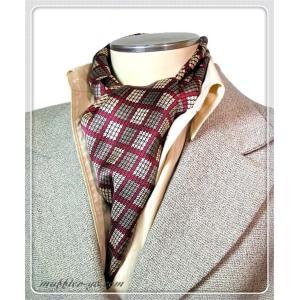 色:赤系 素材:100%シルク サイズ(約):26cm×160cm 中国製  シルク生地で両面縫い合...