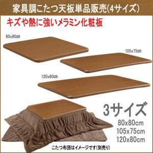 リビングこたつ用天板 単品販売 長方形 120x80cm sw170-7(取り替え天板120)|emono