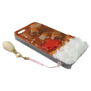 日本職人が作る  食品サンプルiPhone5ケース カレーライス  ストラップ付き  IP-221|emonolife