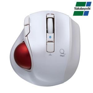 ナカバヤシ Digio2 極小トラックボール「Q」 小型 Bluetooth 静音 5ボタントラックボール ホワイト MUS-TBLF134W|emonolife