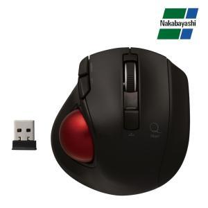 ナカバヤシ Digio2 極小トラックボール「Q」 小型 無線 静音 5ボタントラックボール ブラック MUS-TRLF132BK|emonolife