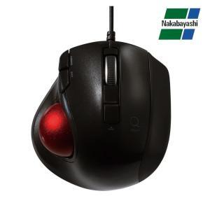 ナカバヤシ Digio2 極小トラックボール「Q」 小型 有線 静音 5ボタントラックボール グロスブラック MUS-TULF139GBK|emonolife