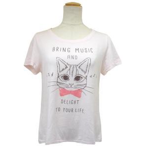 CAT SYMPHONICA(キャット シンフォニカ) Tシャツ (レディース) ポロム (サーモンピンク) 6038|emonolife