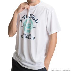 男女兼用 スポーツTシャツ ハイキュー!! 青葉城西 ロゴ X513-814 000 ホワイト emonolife