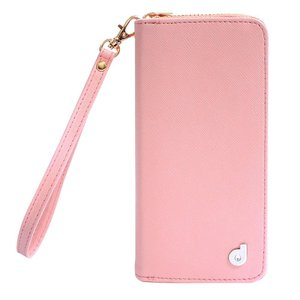 dreamplus iPhone8Plus/7Plus Zipper お財布付きダイアリーケース ピンク|emonolife