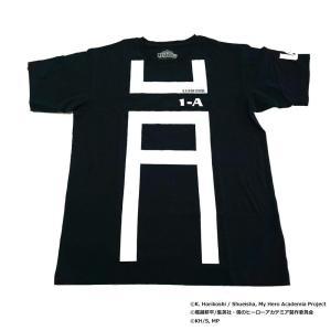 僕のヒーローアカデミア Tシャツ 雄英高校1-A 体操着柄 X513-821 040 ブラック|emonolife