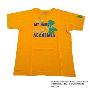 僕のヒーローアカデミア Tシャツ 緑谷出久 シルエット X513-822 014 オレンジ|emonolife