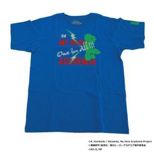 僕のヒーローアカデミア Tシャツ 緑谷出久 シルエット X513-822 022 ブルー|emonolife