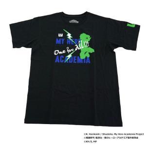 僕のヒーローアカデミア Tシャツ 緑谷出久 シルエット X513-822 040 ブラック|emonolife