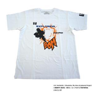 僕のヒーローアカデミア Tシャツ 爆豪勝己 シルエット X513-824 000 ホワイト|emonolife