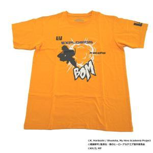 僕のヒーローアカデミア Tシャツ 爆豪勝己 シルエット X513-824 014 オレンジ|emonolife