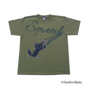 スクラッチ Tシャツ S (ダークグリーン) M-SCRATSDA|emonolife