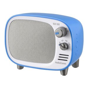 OHM AudioComm Bluetoothスピーカー レトロ ブルー ASP-W900Z-A|emonolife