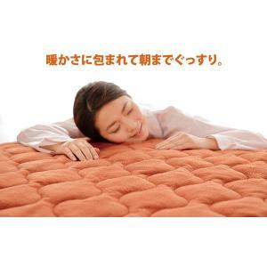 敷きパッド シングル あったか 冬用 厚手 洗える 節電 NEW暖暖あったか節電マット3枚セット|emonostore|04