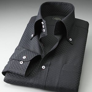 ワイシャツ カラーステッチ トレボットーニ ボタンダウン ブラック織チェック|emperormart