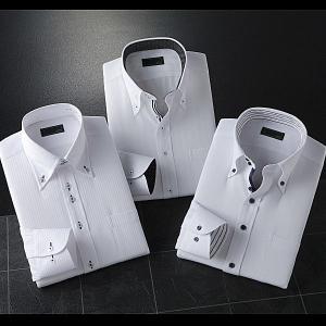 ワイシャツ 長袖 2.5ボタン ドゥエボットーニ 3枚組|emperormart