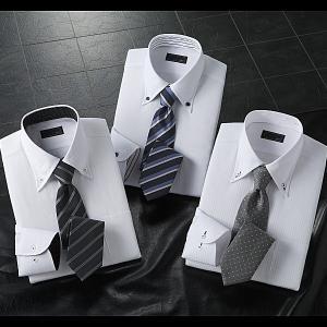 ワイシャツ 長袖  ドレスシャツ 2.5ボタン ドゥエボットーニ ネクタイ 6点セット|emperormart