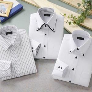 ワイシャツ ホワイト ドレスシャツ 3枚組 emperormart