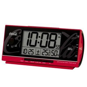 SEIKO セイコー 目覚まし時計 デジタル 大音量 アメリカン カジュアル インテリア コカ コーラ 限定品 赤 レッド AC602R【お取り寄せ】|empire-clock