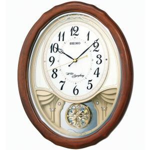 セイコー 掛け時計 電波 アナログ トリプルセレクション・メロディ 飾り振り子 木枠 茶木地 AM257B|empire-clock