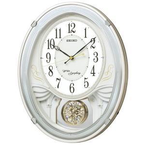セイコー 掛け時計 電波 アナログ トリプルセレクション・メロディ 飾り振り子 白パール AM258W|empire-clock
