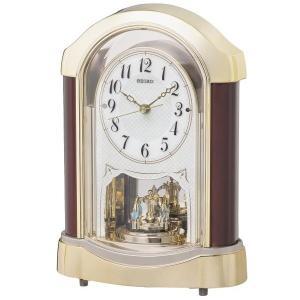 セイコー 置き時計 スタンダード 電波時計 ツイン・パ (マホガニー・茶木地塗装) BY237G|empire-clock