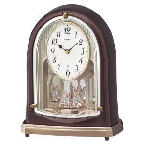 セイコー 置き時計 スタンダード 電波時計 ツイン・パ (茶メタリック塗装) BY239B|empire-clock