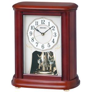セイコー 置き時計 電波 アナログ 回転飾り 木枠 茶木地 BY242B|empire-clock