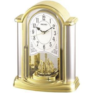 セイコー 置き時計 アナログ 回転飾り 金色 BY418G|empire-clock