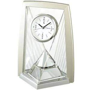 セイコー 置き時計 アナログ 回転飾り 薄金色パール BY423S|empire-clock