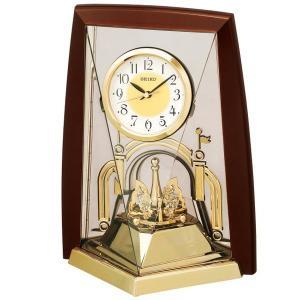 セイコー 置き時計 アナログ 回転飾り 茶メタリック BY426B|empire-clock