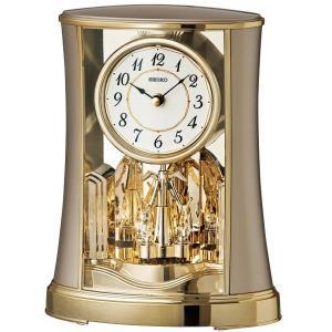 セイコー 置き時計 アナログ 回転飾り 薄金色パール BY428G|empire-clock
