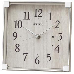 セイコー 置き時計 電波 アナログ 薄グレー BZ237A|empire-clock