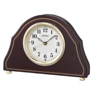 セイコー 置き時計 電波 アナログ 木枠 濃茶木目模様 濃茶木地 BZ239B|empire-clock
