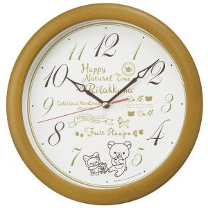 セイコー 掛け時計 リラックマ アナログ 木枠 薄茶木地 CQ220B empire-clock