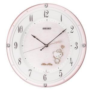 セイコー 掛け時計 ハローキティ ハイライン 電波 アナログ 薄ピンクパール CS501P empire-clock