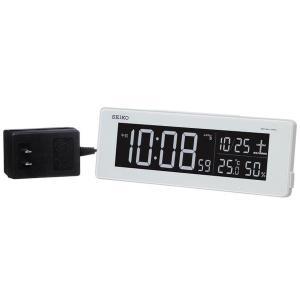 SEIKO セイコー 目覚まし時計 夜でも見える 暗くても見える 電波 デジタル 交流式 カラー液晶 シリーズC3 白 DL205W【お取り寄せ】|empire-clock