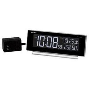 SEIKO セイコー 目覚まし時計 夜でも見える 暗くても見える 電波 デジタル 交流式 カラー液晶 シリーズC3 DL207S【お取り寄せ】|empire-clock
