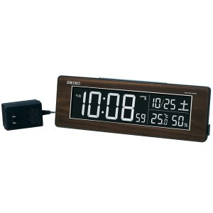 SEIKO セイコー 目覚まし時計 夜でも見える 暗くても見える 電波 デジタル 交流式 カラー液晶 シリーズC3 DL210B【お取り寄せ】|empire-clock