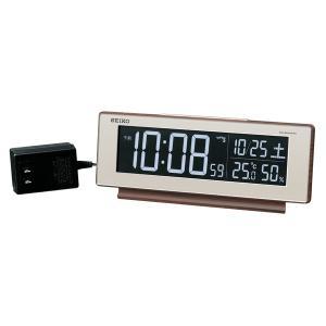 SEIKO セイコー 目覚まし時計 夜でも見える 暗くても見える 電波 デジタル 交流式 カラー液晶 シリーズC3 DL211B【お取り寄せ】|empire-clock