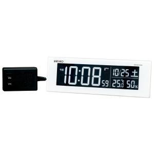 SEIKO セイコー 目覚まし時計 夜でも見える 暗くても見える 置き時計 電波 DL305W 【お取り寄せ】|empire-clock
