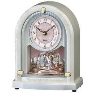 セイコー 置き時計 ディズニーPRINCESS(プリンセス) 電波 アナログ 6曲メロディ 大人ディズニー 白マーブル FS201W|empire-clock