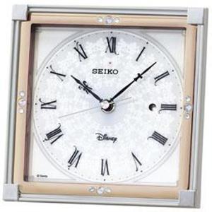 セイコー 置き時計 ミッキーマウス 電波 アナログ 大人ディズニー 白パール FS203W|empire-clock